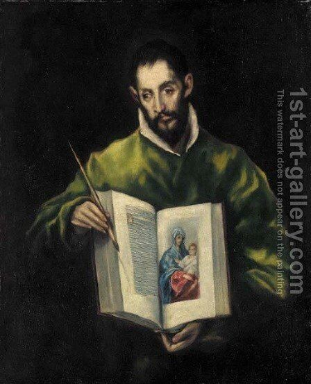 Saint Luke by (after) El Greco, Domenico - Reproduction Oil Painting