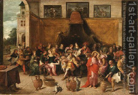 The Marriage at Cana 2 by (after) Frans II Francken - Reproduction Oil Painting