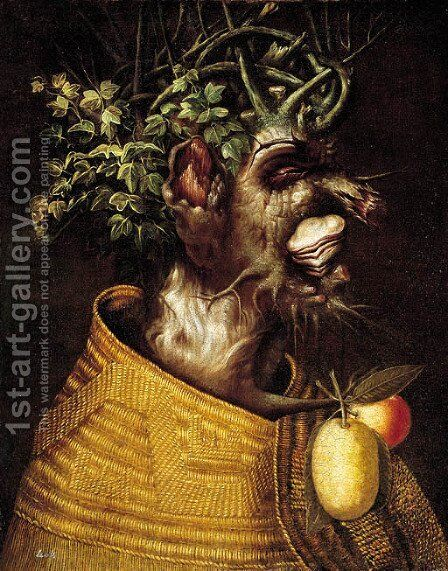 Winter An anthropomorphic portrait of a man by (after) Giuseppe Arcimboldo - Reproduction Oil Painting