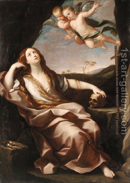 The Penitent Magdalen 7 by (after) Guido Reni - Reproduction Oil Painting