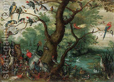 A Concert of Birds by (after) Jan, The Younger Brueghel - Reproduction Oil Painting