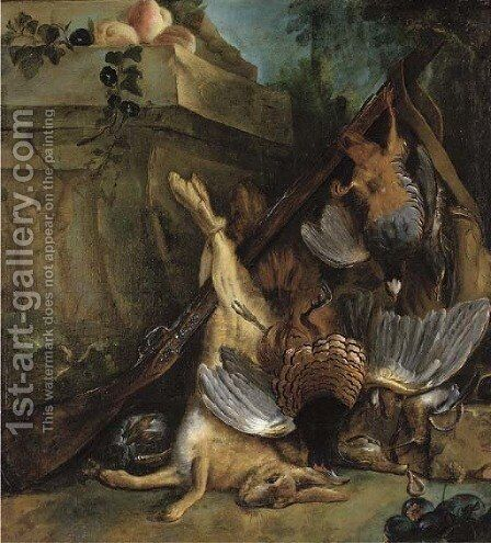 Dead game by a sculpted relief by (after) Jean-Baptiste Oudry - Reproduction Oil Painting