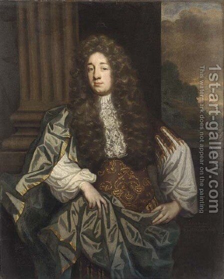 Portrait of William Russell, 1st Duke of Bedford by Johann Closterman (after) - Reproduction Oil Painting
