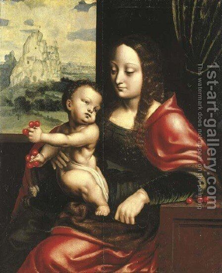The Madonna of the Cherries 2 by (after) Cleve, Joos van - Reproduction Oil Painting