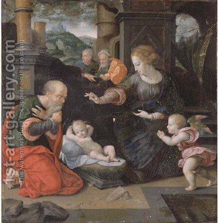 The Nativity by (after) Cleve, Joos van - Reproduction Oil Painting