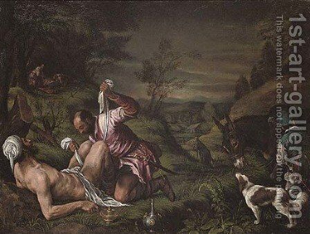 The Good Samaritan by (after) Leandro Bassano - Reproduction Oil Painting