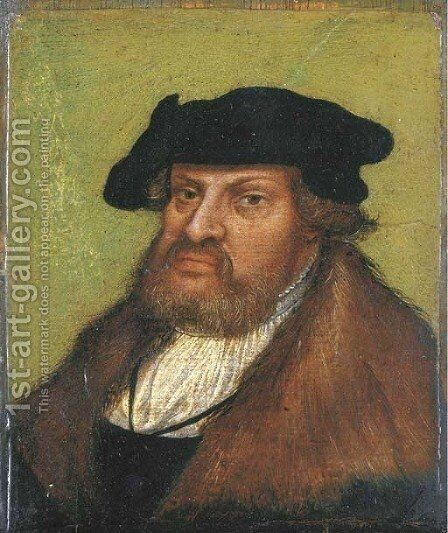 Portrait of the John the Steadfast, Elector of Saxony (1468-1532) by (after) Lucas The Elder Cranach - Reproduction Oil Painting