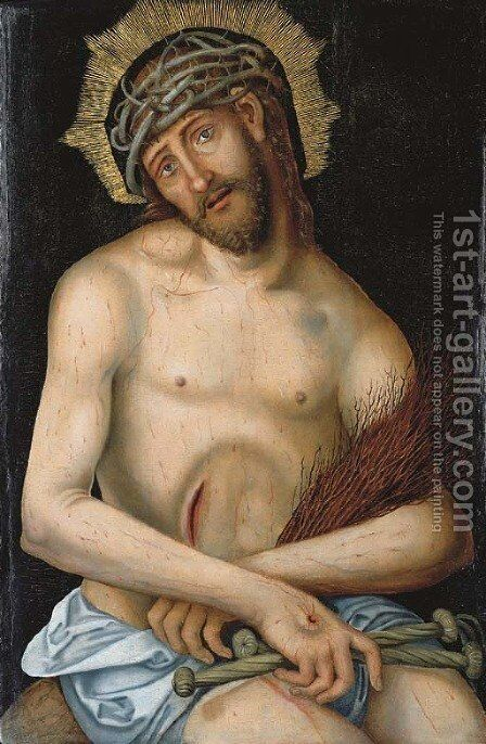 Christ the Man of Sorrows by (after) Lucas The Younger Cranach - Reproduction Oil Painting