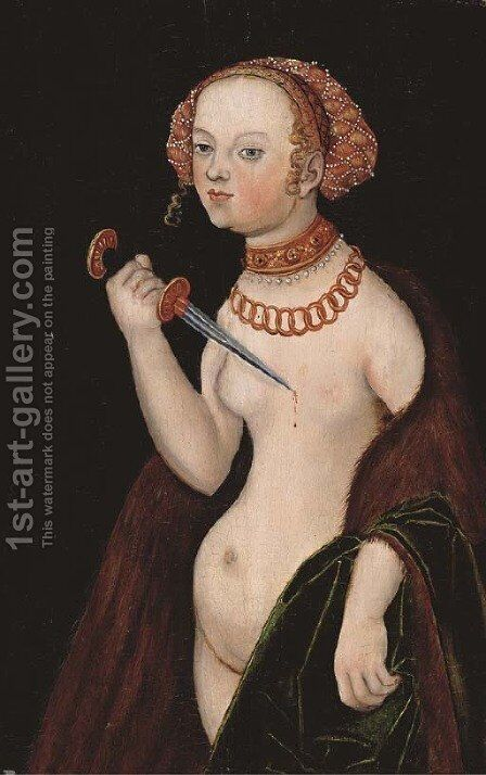 Lucretia by (after) Lucas The Younger Cranach - Reproduction Oil Painting