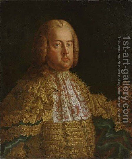 Portrait of Emperor Francis I of Austria by (after) Martin Van, II Meytens - Reproduction Oil Painting