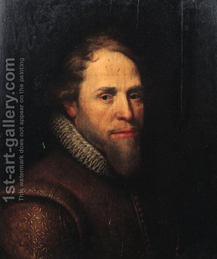 Portrait of Maurice of Nassau, Prince of Orange (1567-1625) 2 by (after) Michiel Jansz. Van Miereveld - Reproduction Oil Painting