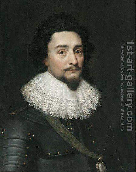 Portrait of the King Frederick V of Bohemia, the Winter King (1596-1632) by (after) Michiel Jansz. Van Miereveld - Reproduction Oil Painting
