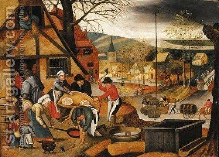 Autumn by (after) Pieter The Younger Brueghel - Reproduction Oil Painting