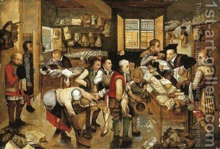 The collector of tithes by (after) Pieter The Younger Brueghel - Reproduction Oil Painting