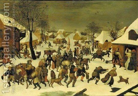 The Massacre of the Innocents by (after) Pieter The Younger Brueghel - Reproduction Oil Painting