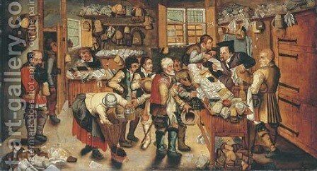 The Payment of the Tithes 3 by (after) Pieter The Younger Brueghel - Reproduction Oil Painting
