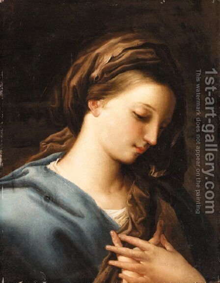 The Madonna Annunciate by (after) Pompeo Gerolamo Batoni - Reproduction Oil Painting