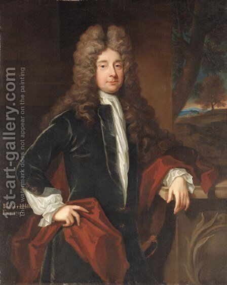 Portrait of Richard Hill by (after) Kneller, Sir Godfrey - Reproduction Oil Painting