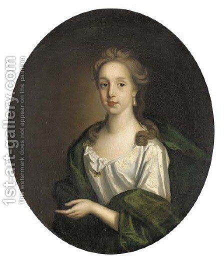 Portrait of Sophia Colston by (after) Kneller, Sir Godfrey - Reproduction Oil Painting