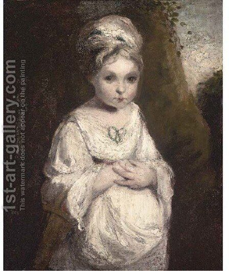 A strawberry girl by (after) Sir Joshua Reynolds - Reproduction Oil Painting
