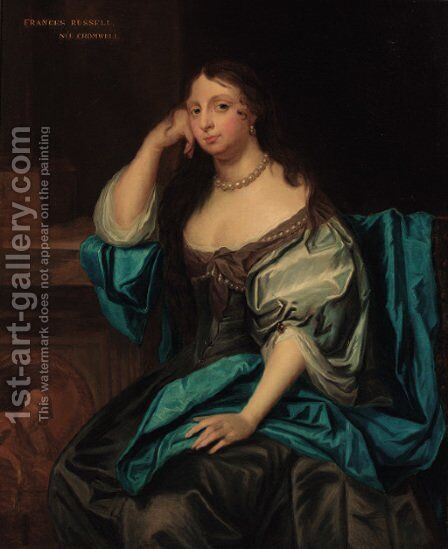 Portrait of Frances Russell, nee Cromwell by (after) Sir Peter Lely - Reproduction Oil Painting