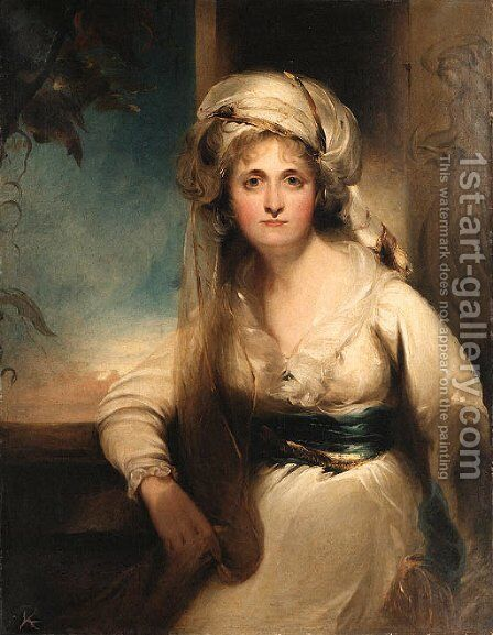 Portrait of Mary, Countess of Inchiquin by (after) Lawrence, Sir Thomas - Reproduction Oil Painting