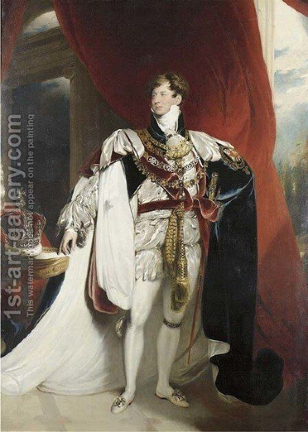 Portrait of King George IV (1762-1830) by (after) Lawrence, Sir Thomas - Reproduction Oil Painting