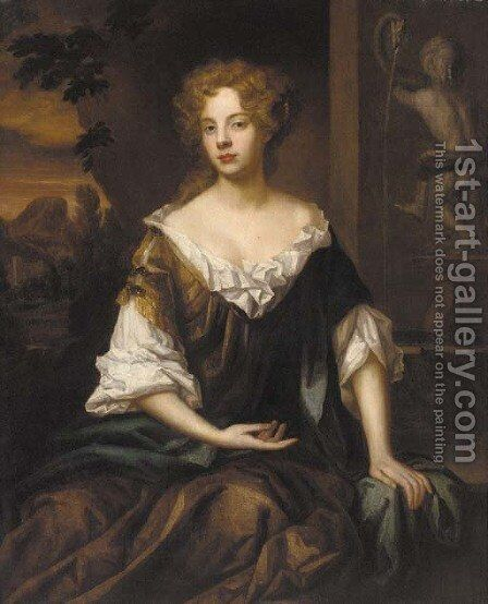 Portrait of a lady 4 by (after) William Wissing Or Wissmig - Reproduction Oil Painting