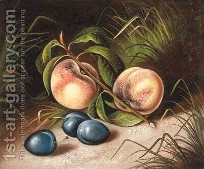 Peaches and Plums by Susan C. Waters - Reproduction Oil Painting