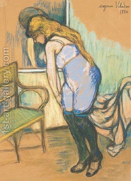 Femme a sa toilette by Suzanne Valadon - Reproduction Oil Painting