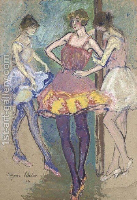 Trois danseuses by Suzanne Valadon - Reproduction Oil Painting