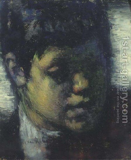Head of a boy by Suze Robertson - Reproduction Oil Painting