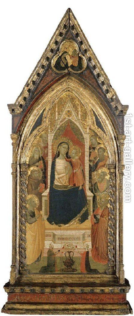 Madonna and Child with Saint Peter by Taddeo Gaddi - Reproduction Oil Painting