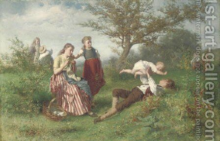 A summer's day by Theodore Gerard - Reproduction Oil Painting