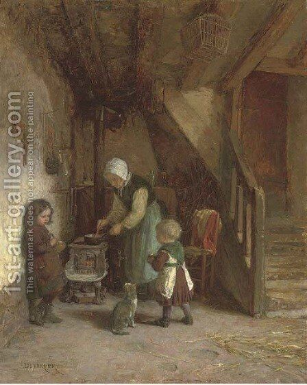 Supper time by Theophile Emmanuel Duverger - Reproduction Oil Painting