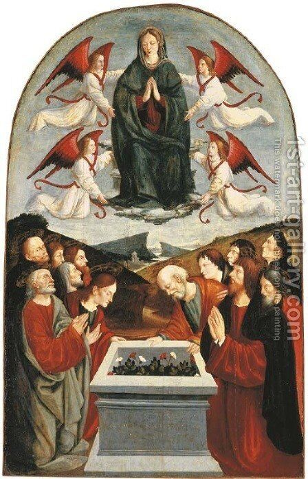 The Assumption of the Virgin by The Master Of San Martino Alfieri - Reproduction Oil Painting
