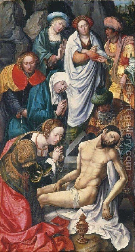 The Entombment by Master of Magdalen - Reproduction Oil Painting