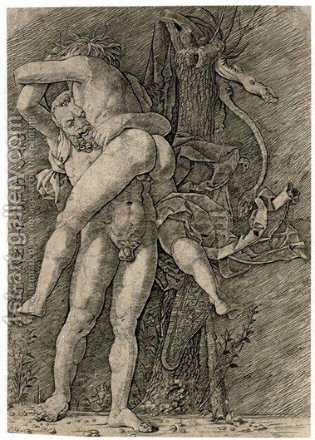 Hercules and Antaeus by Andrea Mantegna - Reproduction Oil Painting