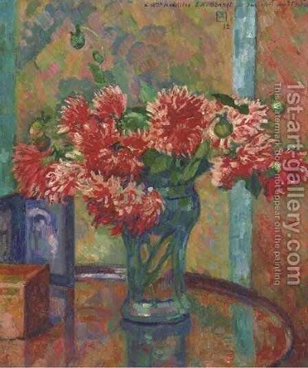 Dahlias by Theo Van Rysselberghe - Reproduction Oil Painting