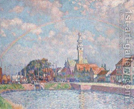 L'arc-en-ciel a Veere by Theo Van Rysselberghe - Reproduction Oil Painting