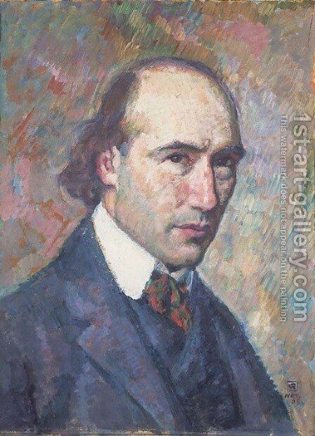 Portrait d'Andre Gide by Theo Van Rysselberghe - Reproduction Oil Painting