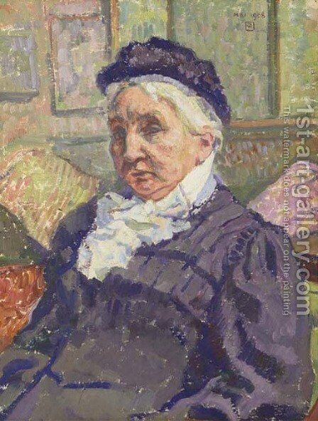 Portrait de Madame Monnom by Theo Van Rysselberghe - Reproduction Oil Painting