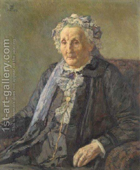 Portrait de Madame Monnom 2 by Theo Van Rysselberghe - Reproduction Oil Painting