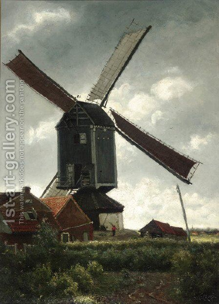 Moulin de Kiel (Anvers) by Theodor Verstraete - Reproduction Oil Painting