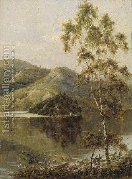 Ellen's Isle, Loch Katrine by Theodore Hines - Reproduction Oil Painting