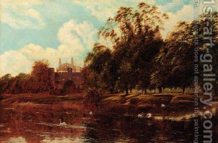 Eton College from the Thames by Theodore Hines - Reproduction Oil Painting