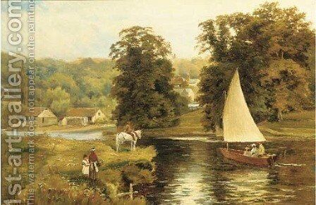 Wargrave-on-Thames by Theodore Hines - Reproduction Oil Painting