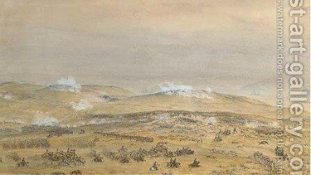 The Crimean War The Battle of Inkerman, 24th October 1854 by Theodore Jung - Reproduction Oil Painting