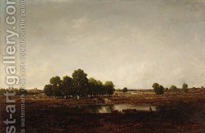 Paysage marecageux (Landscape with Marsh) by Theodore Rousseau - Reproduction Oil Painting