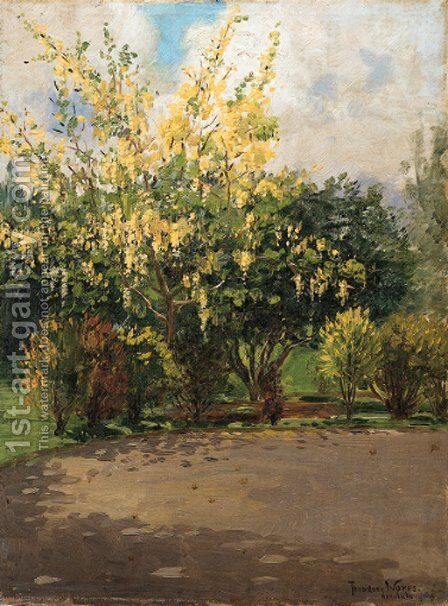 Golden Shower Tree by Theodore Wores - Reproduction Oil Painting